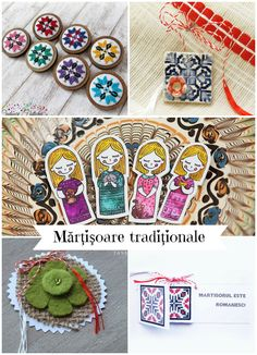 Martisoare traditionale1 Coasters, Crafts For Kids, Folk, Vampires, Create, Spring, Floral, Handmade, Jewellery