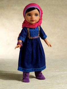 Hearts for Hearts Girls - Shola Afghani doll, and others that teach kids about the way real girls live around the world.