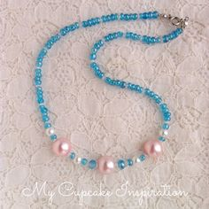 Mermaid Party Favors, Blue Pink Wedding, Under the Sea Party, Flower Girl Necklace, Accessories, Toddler Baby, Pearl Necklace, Children