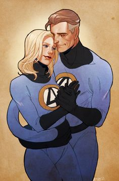 a commission for anastasia! she wanted sue storm  reed richards feel free to commission me here and help me make my way to NYCC this year!!