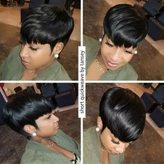Best Short Pixie Hairstyles for Black Women 2018 – 2019 - Short hair - Hair Designs Cute Hairstyles For Short Hair, Pixie Hairstyles, Black Women Hairstyles, 27 Piece Hairstyles, Hairstyles 2018, Short Quick Weave Hairstyles, African Hairstyles, Wedding Hairstyles, Ladies Hairstyles