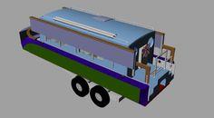 24′ Trailerable Folding Houseboat