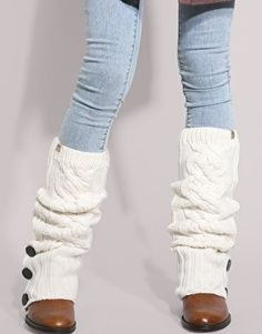 Cut off the arms of an old sweater and use them as legwarmes! They look cute under or over boots for winter.