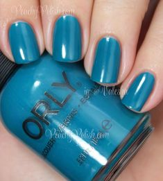 """""""Teal Unreal"""" is a dark but bright teal creme."""