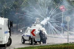Turkey prime minister adviser kicks caused outrage in turkey and violent protests sweep country
