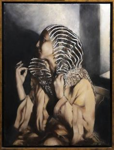 "Saatchi Art Artist Nikos Mourikis; Painting, ""HALIMA"" #art 2 In, Oil On Canvas, Saatchi Art, Artworks, Original Paintings, Statue, The Originals, Artist, Artists"