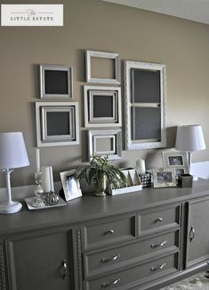 This Little Estate: Master Bedroom Furniture Redo: solid overly fussy old dresser simplified by the removal of superfluous molding and a lot of TLC