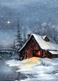 Image result for images of Bob Ross snow scenes