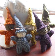 Gnome Knitting Kit - Makes 5 Rustic Rainbow Gnomes - Waldorf Handwork. $38.00, via Etsy.