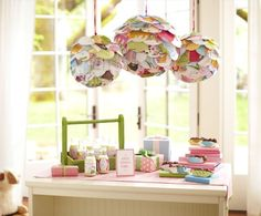 Cool lanterns with storybook pages whooooo-party
