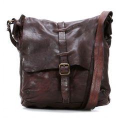 Lavata Cross Body Bag leather dark brown