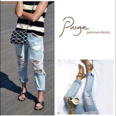 "NWT size 30 Paige Jeans jimmy jimmy boyfriend Brand new with tags Paige jeans. Size 30, light wash, destroyed. Style: ""Jimmy jimmy"". Boyfriend skinny fit. Paige Jeans Jeans"