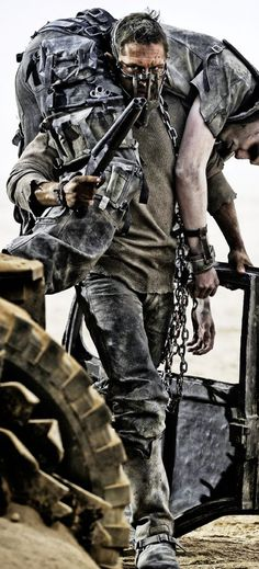 Max has a few costume changes in the film, but 4things remain constant: leather trousers, sweatshirt, leg brace and survival bracelet. Shirt The shirt appears to be a khaki waffle-knit thermal shirt, with the sleevehems cut off and the front of the collar cut off. The shirtlooks like it was weathered with a black wash, …