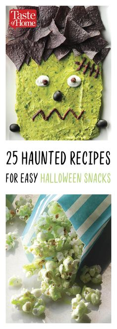 25 Haunted Recipes for Easy Halloween Snacks halloween cooking ideas Entree Halloween, Halloween Bebes, Halloween Breakfast, Halloween Themed Food, Halloween Snacks For Kids, Dessert Halloween, Halloween Party Appetizers, Halloween School Treats, Healthy Halloween Treats
