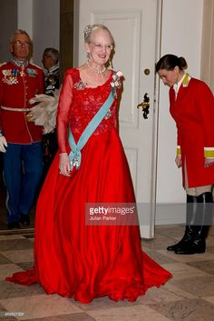 Queen Margrethe II of Denmark attends a Gala Dinner at Christiansborg... News Photo   Getty Images