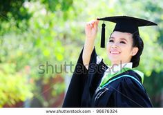 Portrait of a graduation student looking up outdoors by Bplanet, via Shutterstock