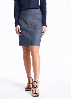MARCS   Skirts & Shorts - MARGOT LINEN DENIM SKIRT Natural Linen, Welt Pocket, Linen Fabric, Short Skirts, Denim Skirt, Shop Now, September, Women Wear, Female