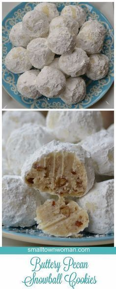 These Buttery Pecan Snowball Cookies aka wedding cookies or Russian Tea Cakes will melt in your mouth.