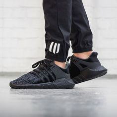 """We are releasing three new @adidasoriginals EQT's tonight, all part of the """"BLK FRDY"""" Pack. This EQT 93/17 Boost drops online Nov. 24th at 00:01AM CET. #adidasoriginals #adidas #sneaker #sneakers #sneakerhead #blackfriday #onfeet #photography #hypebeast #highsnobiety #sneakernews #sneakerfreaker #allikestore"""