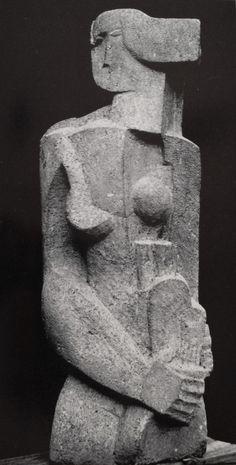 "europeansculpture: "" Ossip Zadkine (1890-1967) - La Belle Servante, 1920 """