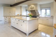 With feature tall cupboards the kitchen has a large amount of concealed storage
