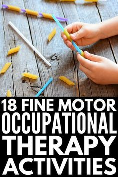 Fine Motor Activities for Kids | Looking for classroom activities to help develop fine motor skills in preschool, kindgarten, and grade 1 students? Perfect for kids who struggle with handwriting, and children with special needs like autism who have motor delays, these ideas make great classroom activities while also doubling as fabulous occupational therapy activities. #finemotorskills #finemotoractivities #occupationaltherapy #homeschooling #classroom #autism