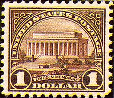 Old Us Postage Stamps Value | US Stamp Gallery >> Lincoln Memorial