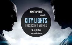 Podcast now uploaded! Listen to CITY LIGHTS Radioshow – THIS IS MY WORLD (2016 Exclusive Scores) City Lights, My World, Scores, Community, Film, Board, Movie Posters, Image, Movie