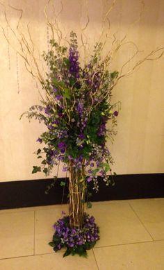 6ft tall Twig flower arrangement