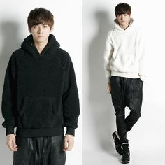 Remember Click Popcorn Textured Hoodie BLACK WHITE ONE SIZE Korean Wear #RememberClick #Hooded