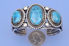 Navajo triplet cuff by Leon Martinez | High Plains Jewelry