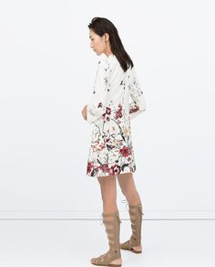 PRINTED FRONT PLEAT DRESS WITH POCKET-Dresses-WOMAN | ZARA United States