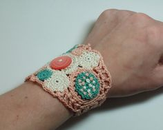 french knots by iceice on Etsy, $30.00, crochet cuff