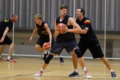 Aug. 5, 2015 - Rotenburg An Der Fulda, Hesse, Germany - Germanys Tibor Pleiss and assistant Alex Jense coach in action during the practice session of Germanys national basketball team in Rotenburg an der Fulda, Germany, 5 August 2015. Team Germany is preparing for the European Championships which take place from 05 September to 20 September 2015. Photo: Swen Pfoertner/dpa (Credit Image: � Swen PföRtner/DPA via ZUMA Press)http://team.fastmodelsports.com/2015/09/01/developing-post-player...