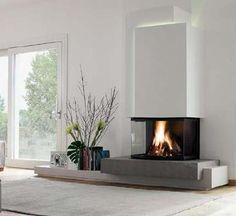 Home & DIY fireplace improvements fireplace ideas. Home Fireplace, Modern Fireplace, Living Room With Fireplace, Fireplace Design, Fireplace Ideas, Fireplaces, Home Design Decor, Interior Design, Modern Tv Room