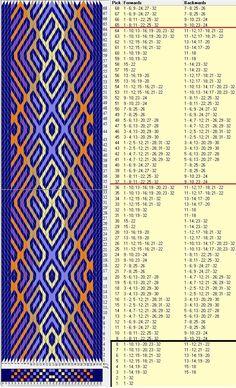 32 tarjetas, 6 colores,repite cada 28 movimientos // sed_883a diseñado en GTT༺❁