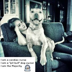 """Pitbull Terrier Anna and Crixus, Dover DE I am a cardiac nurse I am a """"pit bull"""" dog owner I am the majority Bull Terrier Dog, Bull Dog, Beautiful Dogs, Animals Beautiful, Nanny Dog, Pit Bull Love, American Pit, Dog Owners, Dog Life"""