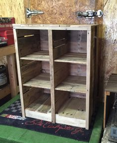 These cubbies were custom made to accommodate baskets that a customer had.  Dimensions are 28x37x17 and hold 6 baskets.  This can be made to fit your needs.  (p