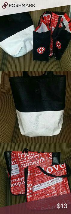 Lululemon Bundle of 3 Lululemon bags all in good shape no tears Bags Totes