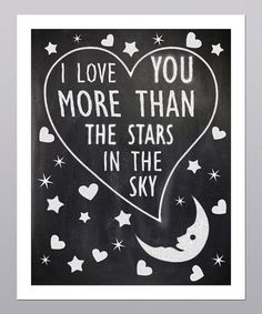 Take a look at this More Than The Stars In The Sky Heart Print by Posie & Co. on #zulily today!