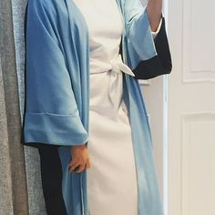 Sky Blue Available ready to wear !! Visit our showroom or order by info@hfboutique.co or wtsup+971 52 640 4072 #byhf #abayas #madeindubai