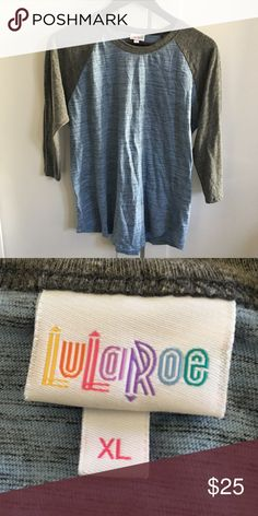 LuLaRoe Heathered Blue & Gray Randy Baseball Tee LuLaRoe Heathered Blue & Gray Randy Raglan Baseball Tee. So soft and comfy!  Mid-length sleeves. Great condition; no holes or stains. Make me an offer 😉 LuLaRoe Tops Tees - Long Sleeve