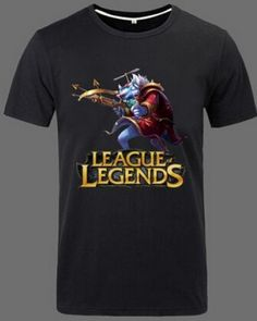 League of Legends XXXL tshirt for men short sleeve Twitch pattern-