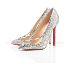 Christian Louboutin Super Vic 120mm ($3,895) ❤ liked on Polyvore