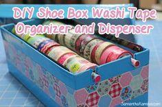 DIY Shoebox Washi Tape Organizer and Dispenser