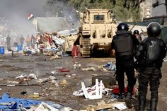 The Egyptian military cleans out the sit ins of the protestors