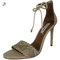 Steve Madden Womens Salllie High Heel Sandal Shoes, Natural Snake, US 6.5 - Steve madden pumps for women (*Amazon Partner-Link)