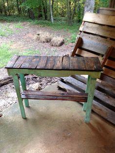 Custom Pallet Foyer / Sofa Table by RustyPerkWoodnStuff on Etsy, $139.00