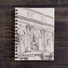 Large Notebook NYC Public Library Sketch