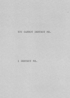 Traduction FR : Tu ne peux pas me détruire. Je me détruits. | Translation By FUN.TXT